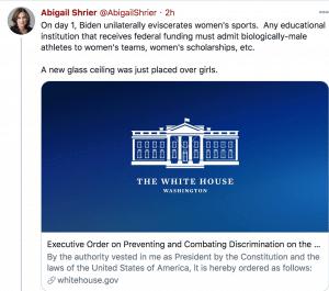 Biden, giorno 1: libero accesso agli sport femminili per le trans con corpi maschili