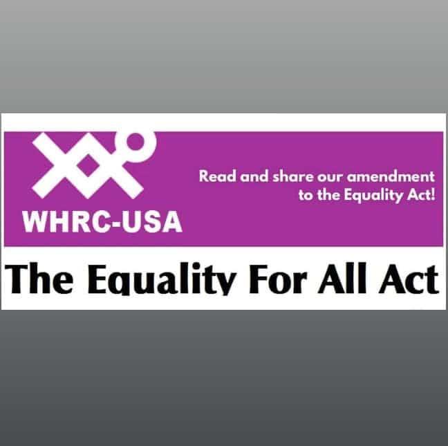 """Da sottoscrivere subito, in tempo per 8 marzo! Dalle donne di tutto il mondo al Senato Usa: non approvate l'Equality Act! L'""""identità di genere"""" ci cancella"""