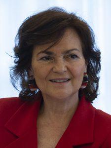 Carmen Calvo, prode vicepremier di Spagna. Dopo il no alla Ley Trans ora pensa a una legge anti-prostituzione