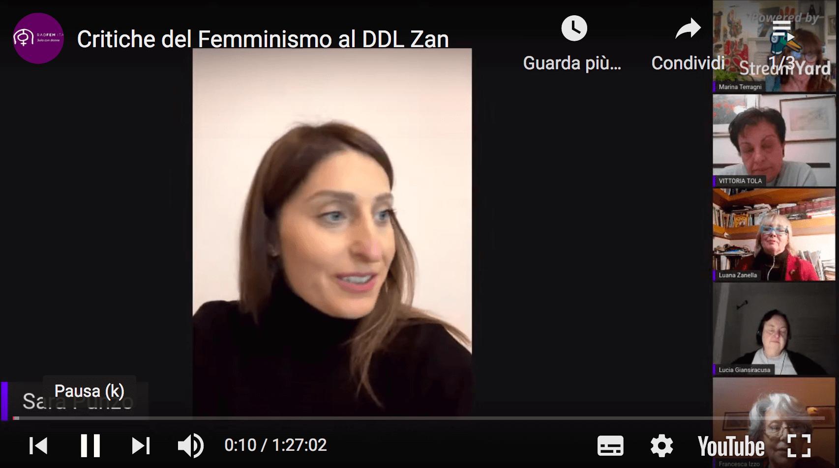 Critiche del femminismo al ddl Zan